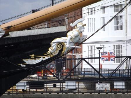 Galionsfigur am Bug der HMS Victory